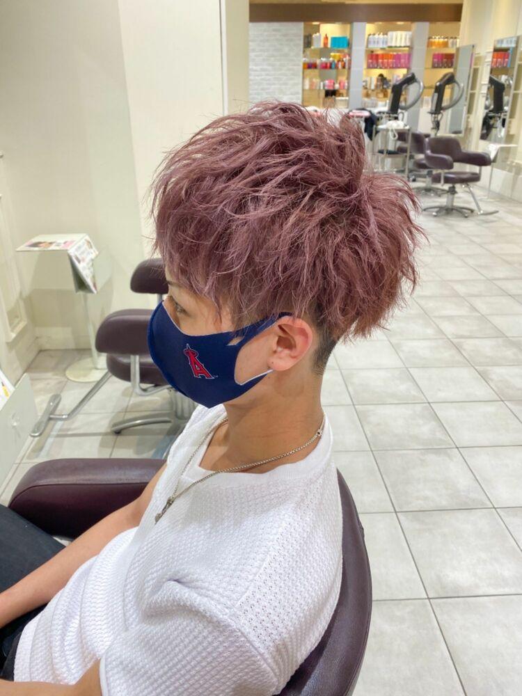 MEN'S HAIR ダブルカラー×ラベンダーピンクアッシュ