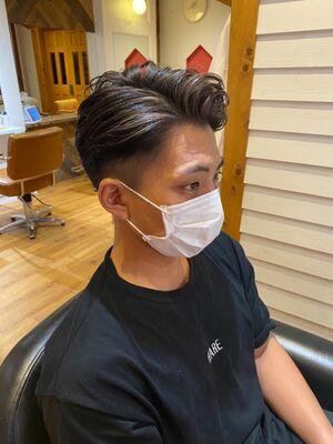 MEN'S HAIR 外国人風×刈り上げ×ハイライト