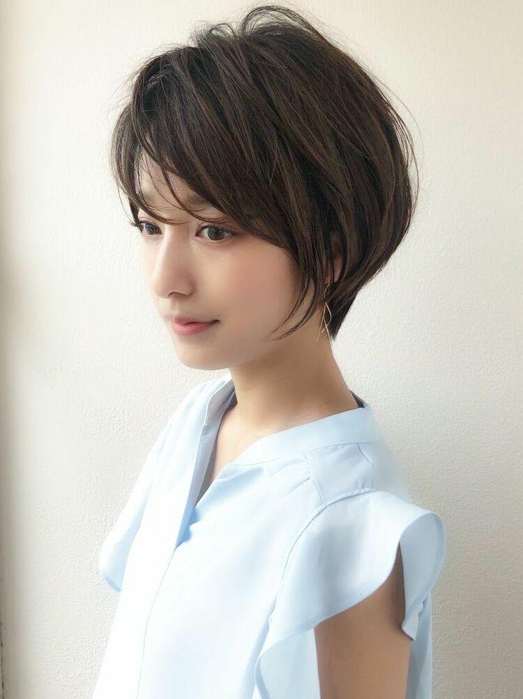 30代40代オトナ女性に人気ヘア!ふんわり簡単セットのひし形ショートヘア!