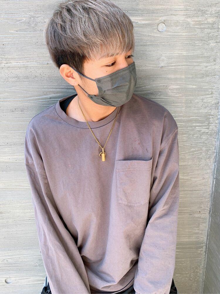 【Men's Style】ホワイティ×マッシュショート/籠谷那奈