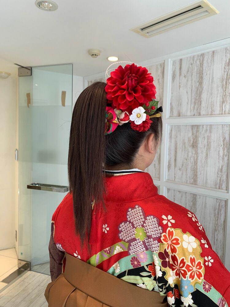 ☆卒業式×袴×ポニーテール☆