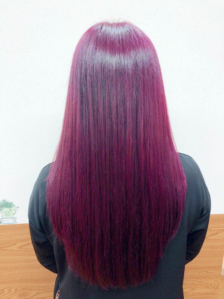 ブリーチなし!ピンク髪