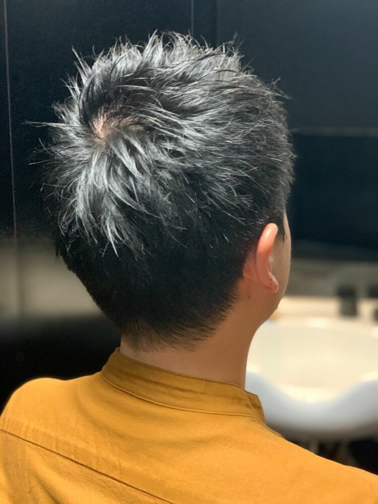 ツーブロじゃないし刈り上げないショートスタイル理容室 神田 メンズ