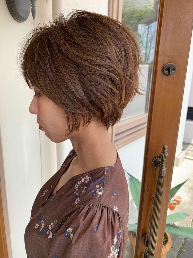 癖っ毛さんのショートヘア