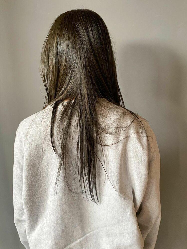 暗髪で魅せる透明感