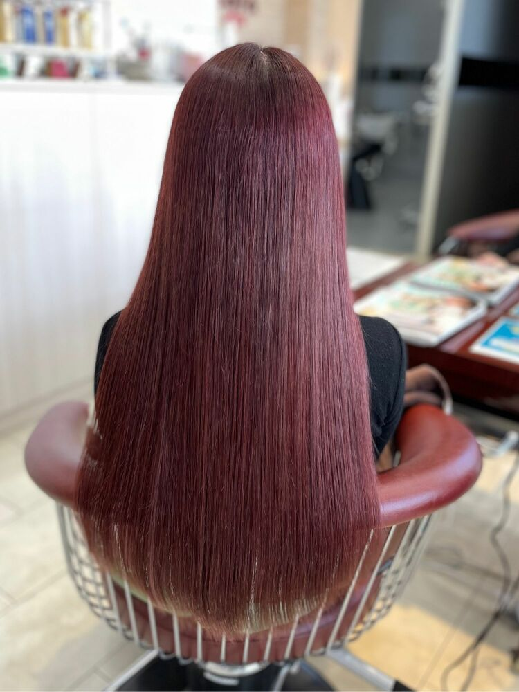 髪質改善トリートメント&桜カラー