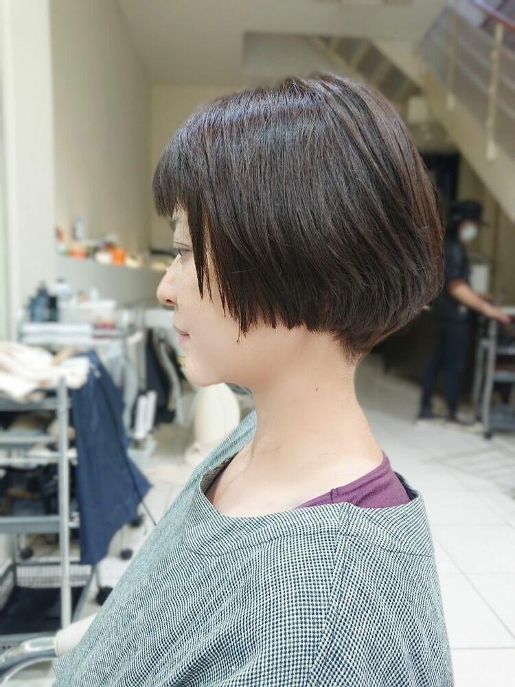 短め前髪でふんわりショートボブ☆