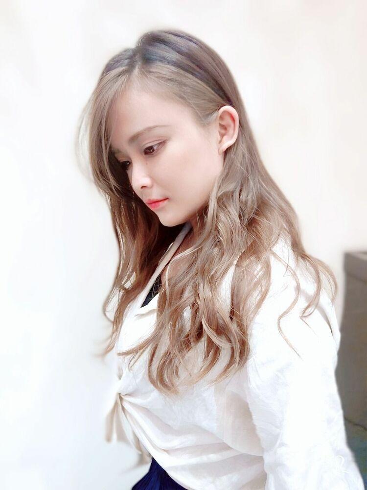 バレイヤージュ×前髪&フェイスラインハイライト