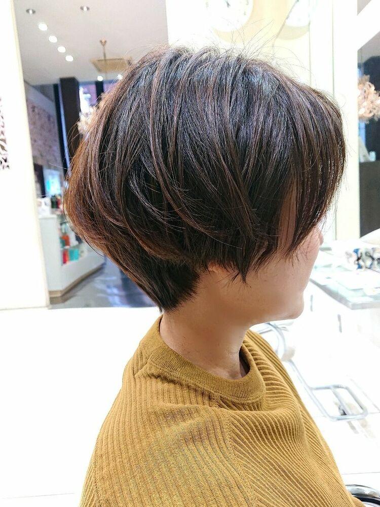 前髪短めマッシュレイヤー