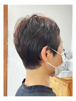 ミセスのショートヘア/明るい白髪染め(オーガニックカラー選択可能)◎完全予約制、プライベートサロン◎