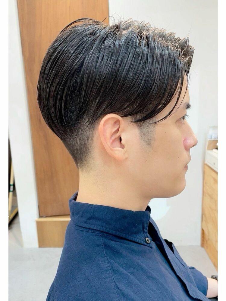 ツーブロックスタイル@メンズカット/前髪長めショート