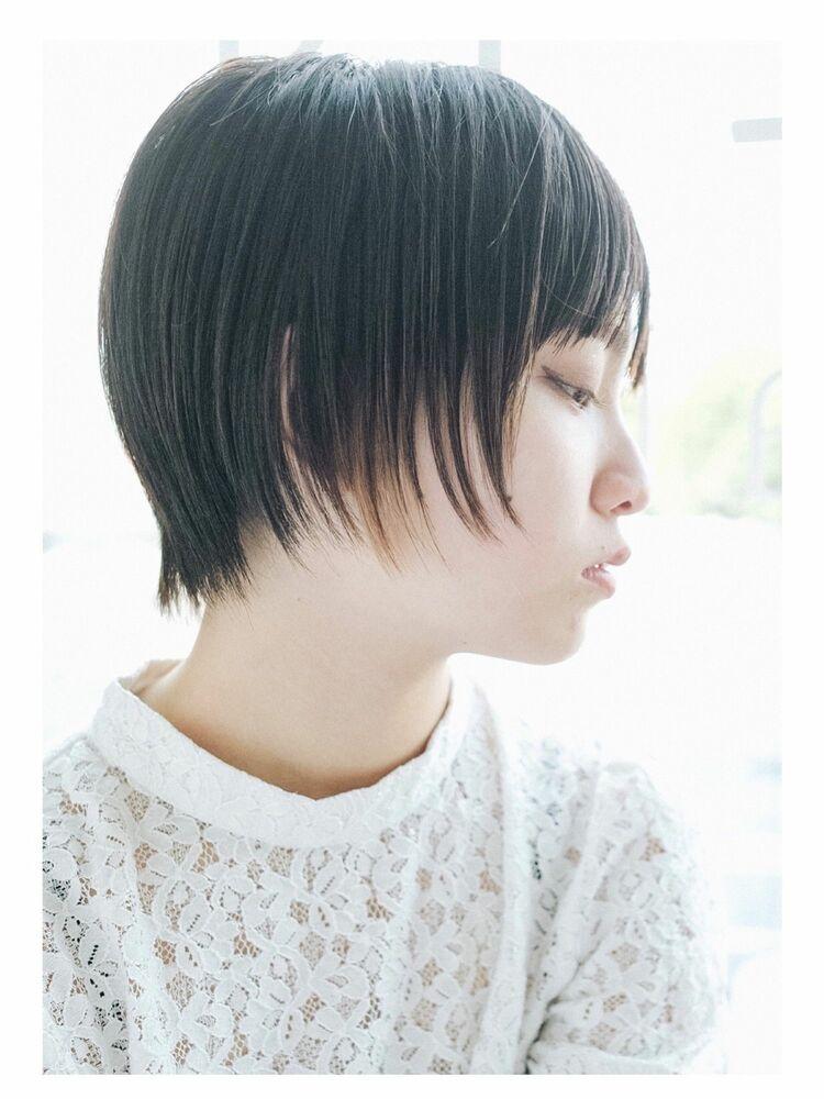 黒髪ショート+インナーカラーでナチュラルモードな印象に◎完全予約制のマンツーマン対応型サロン