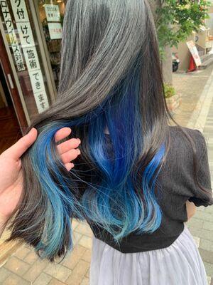 インナーカラーブルー