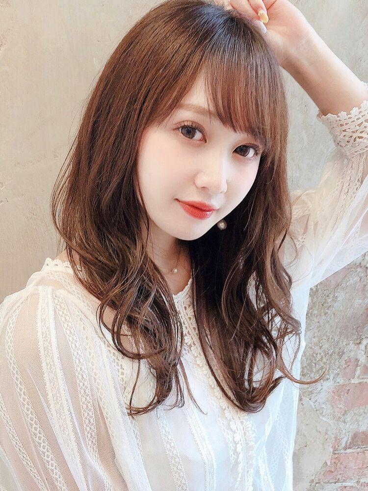 [アフロート]王道レイヤーセミロング巻き髪スタイル☆