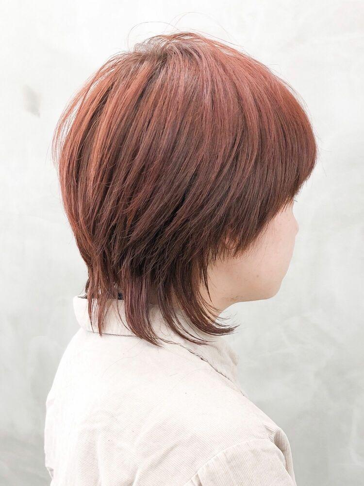 赤髪ショートマッシュウルフ