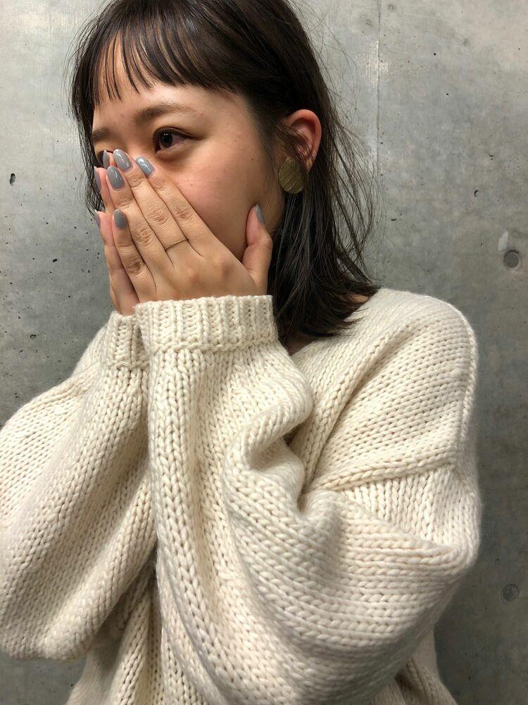 『assort tokyo 』透け感オリーブオン眉アーチバング