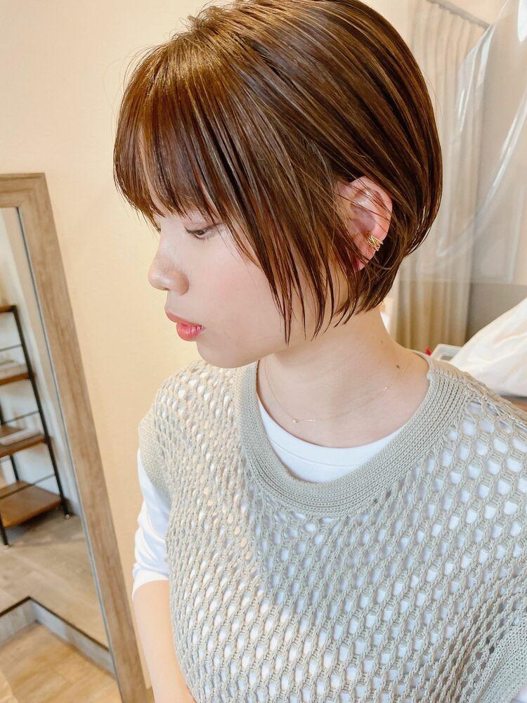 大人かわいいシルエット☆丸みひし形ショート20.30.40代人気◎