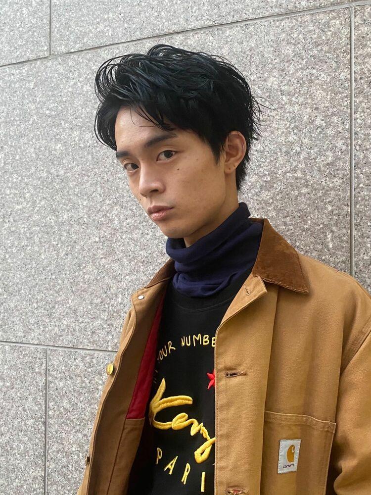 インスタ @suguru_sugawara 七三アップバングツーブロヘアー