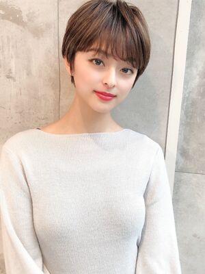 大人かわいい小顔ショート30代40代ミセス井谷幸政