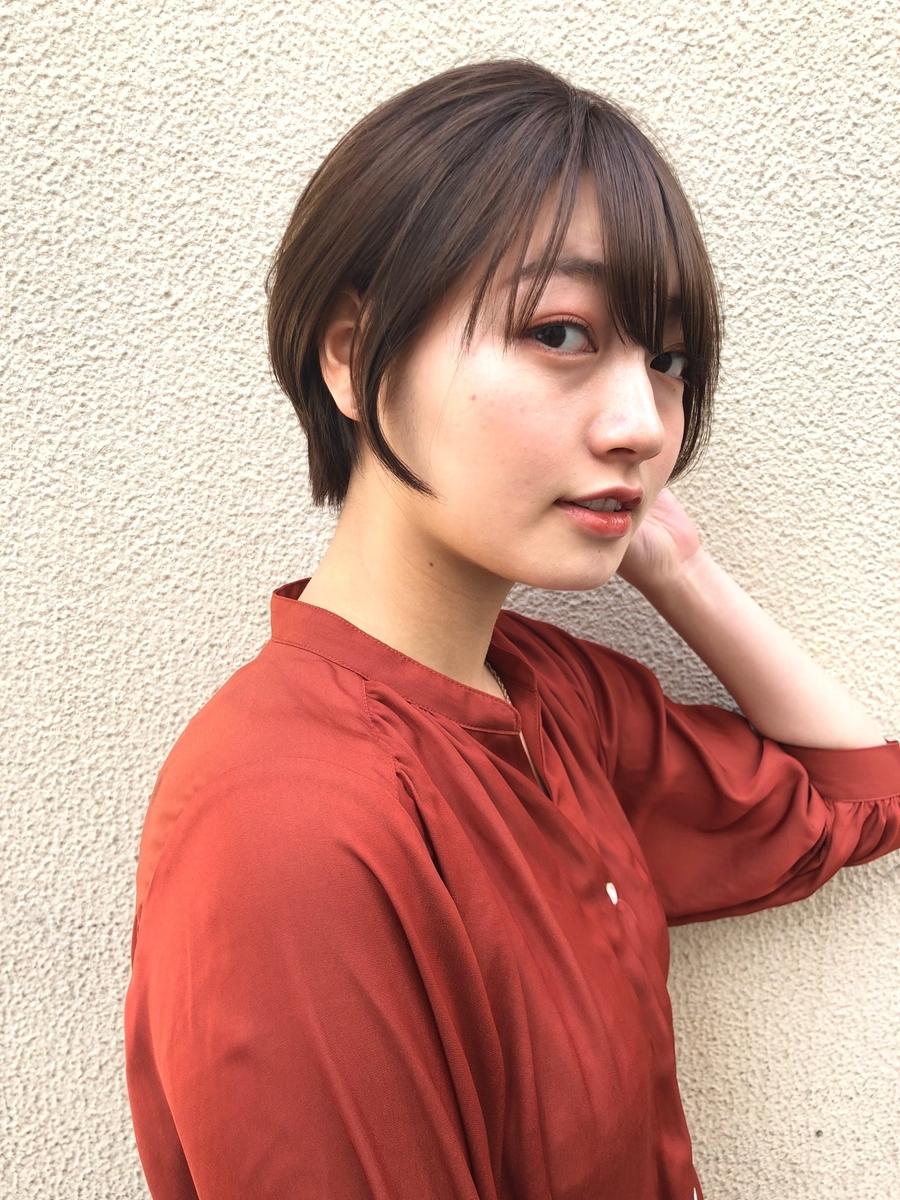 駅から直結徒歩5分の美容室joemi by unami抜け感とショート風スッキリボブ