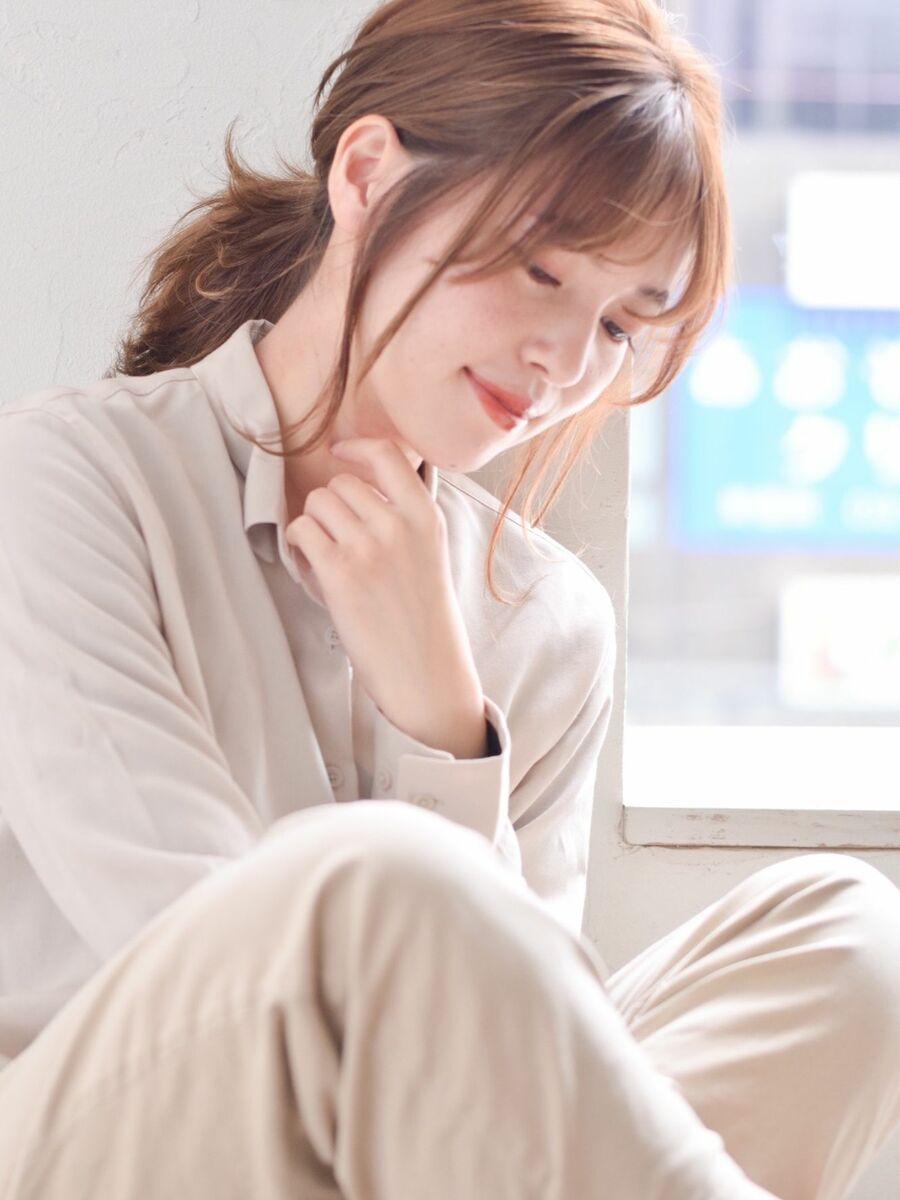駅から直結徒歩5分の美容室joemi by unami ひとつ結ぶだけで簡単可愛いレイヤーボブ