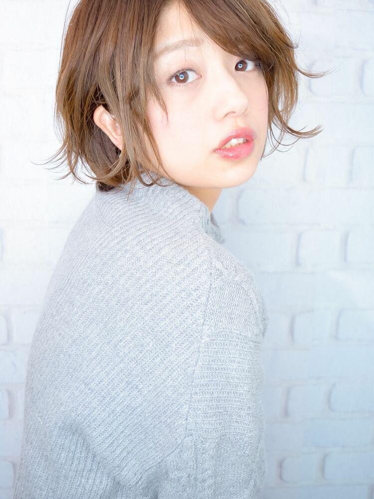 morio池袋 川島佑一 2020年春夏人気大人かわいいひし形小顔ショートボブ