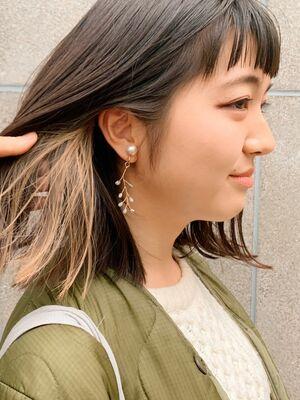 《December》短め前髪×インナーカラーのロブ