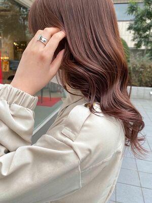 寒い冬を彩る、まろやかな艶髪。ピンクブラウン♡