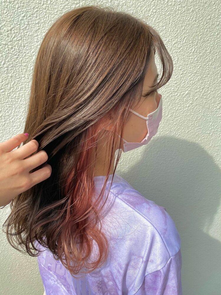 pinkインナーカラー