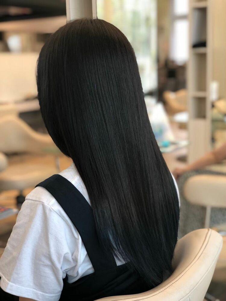 髪質改善!赤みを抑えた美髪ストレート🌿