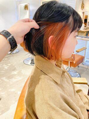 ⦅vicca'ekolu高松⦆⦅インナーカラー×アプリコットオレンジ⦆、明治神宮前駅徒歩5分