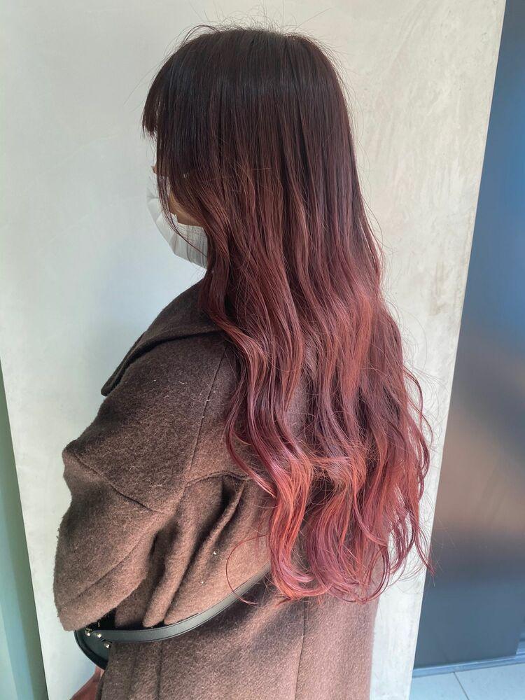 ピンクグラデーション/instagram@mi060208