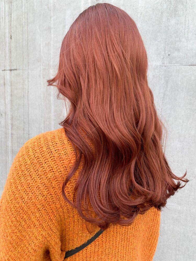 ケアブリーチで作るレッドオレンジカラー