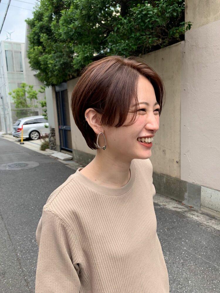 前髪長めのハンサムショート 富永大樹