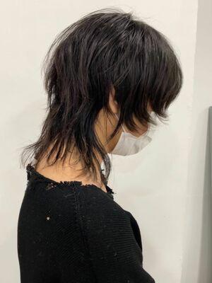 黒髪ウルフ