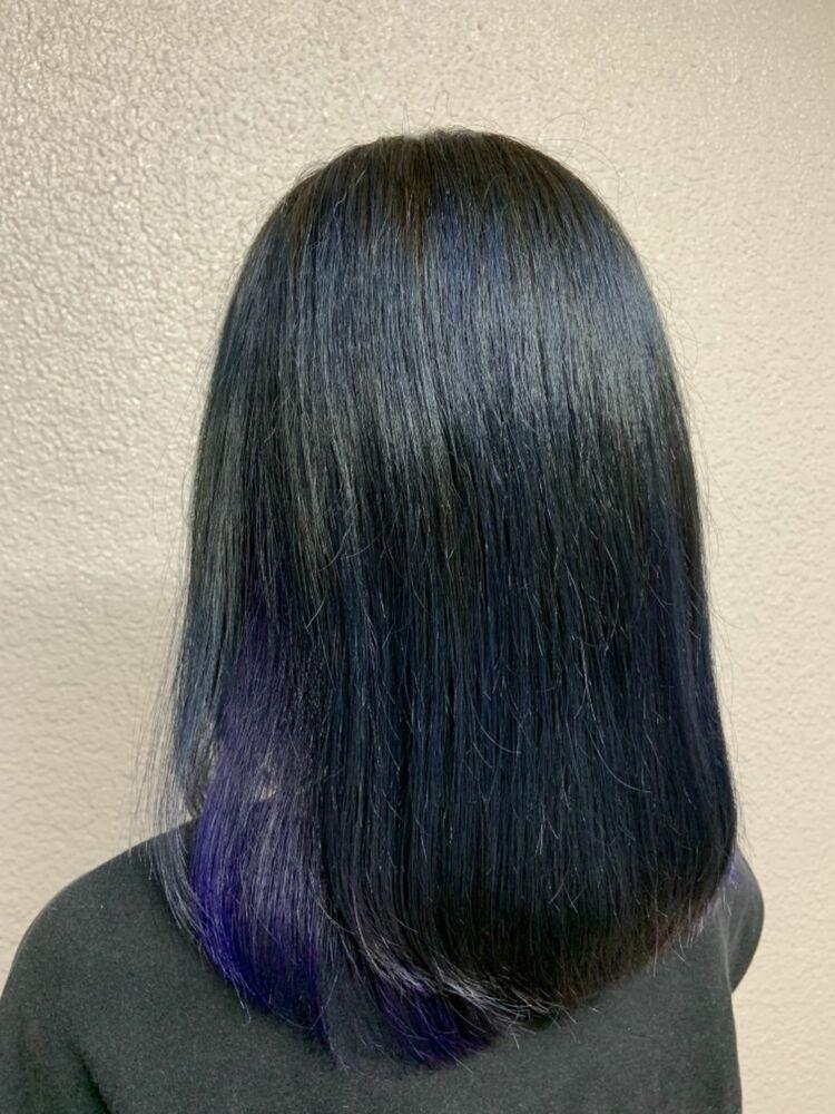 ブルーベースのパープルインナーカラー