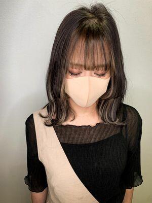 IG:yuzo_kawasakiで検索💫フェザーバングフロントハイライトバングカラーミストバング
