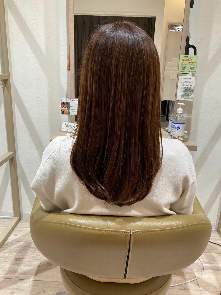 #イマヘア美髪改善 伸ばしかけセミロング