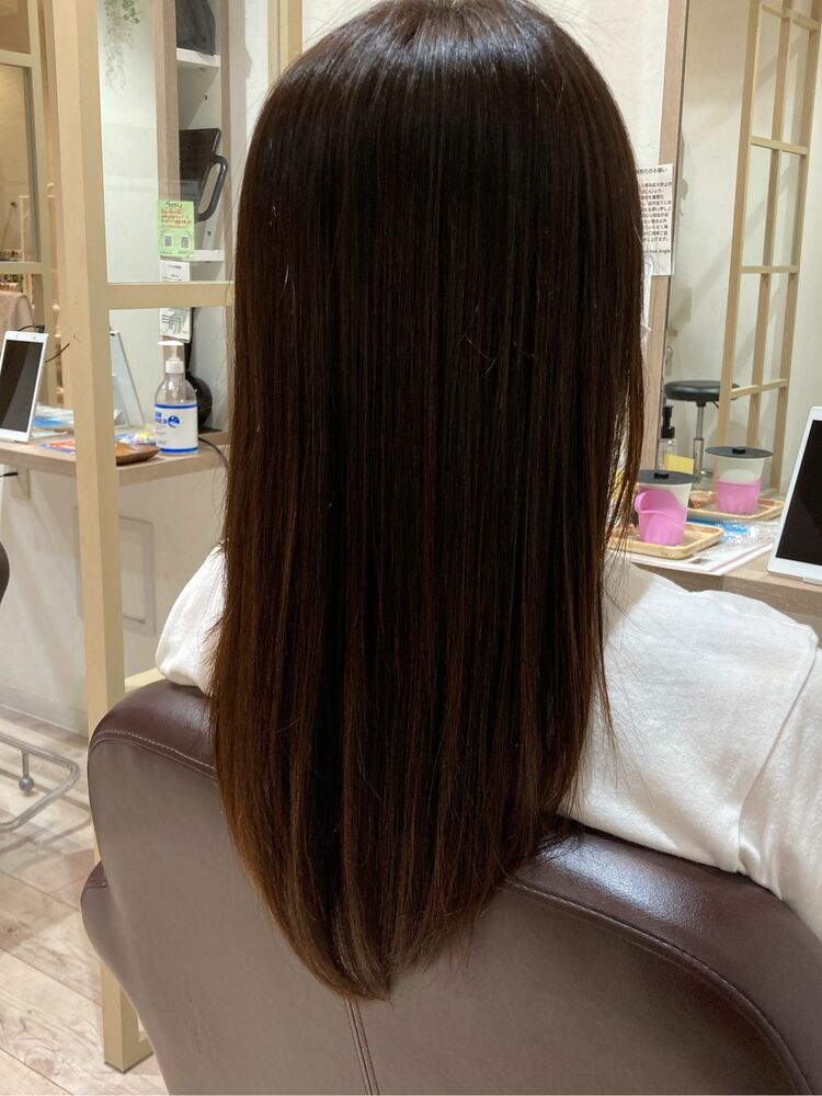 #イマヘア美髪改善 ストレートロング