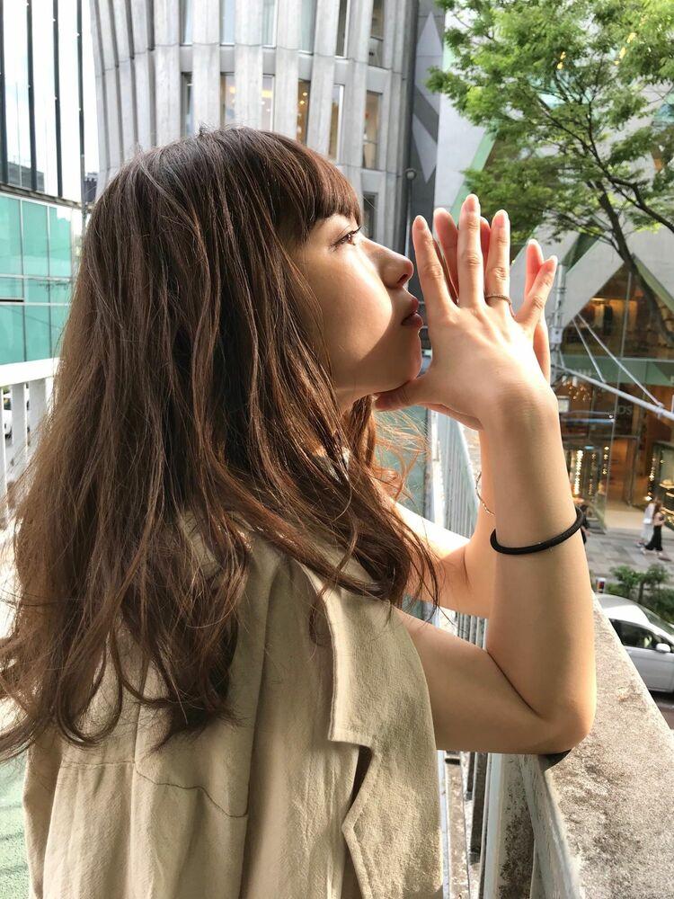 「表参道美容室 seasons by marbles 大西正海 フェミニンレイヤー」