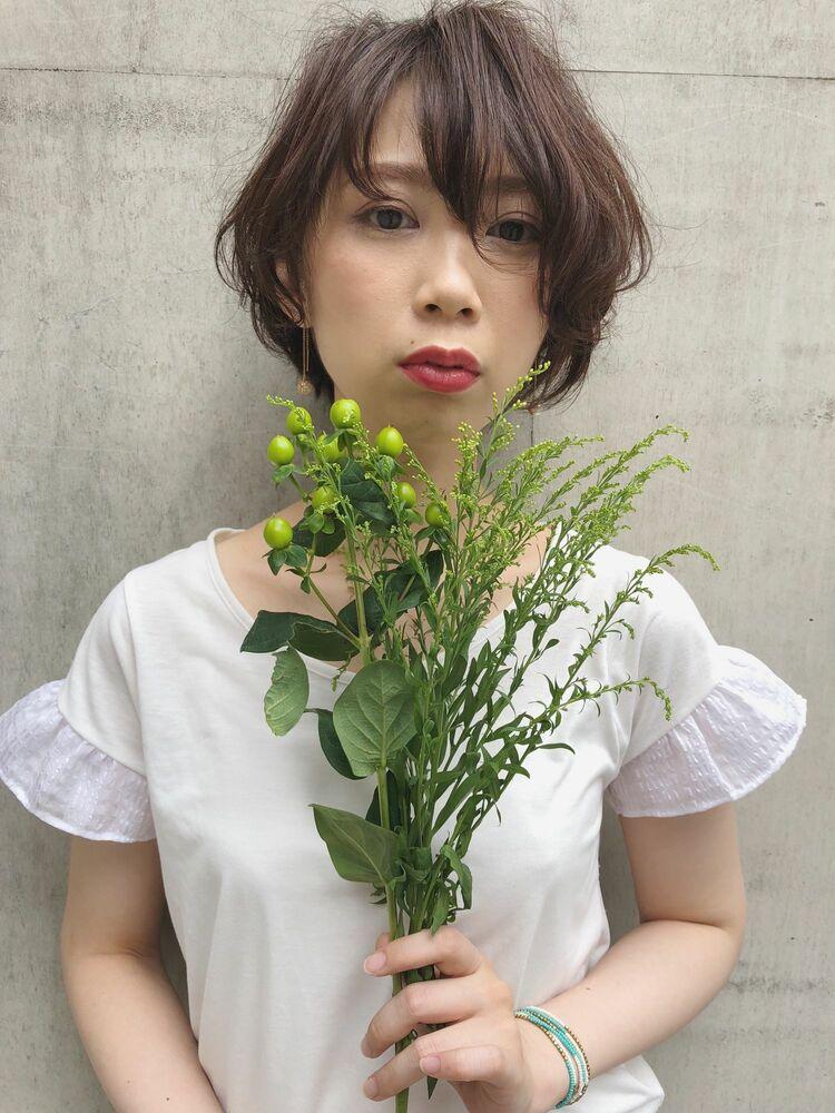 【Sourire 吉中真由美】ボタニカルショートボブ