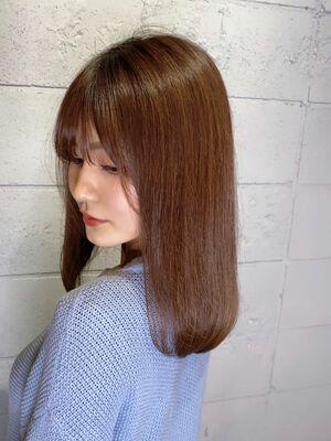 美髪♪セミロングブラウン