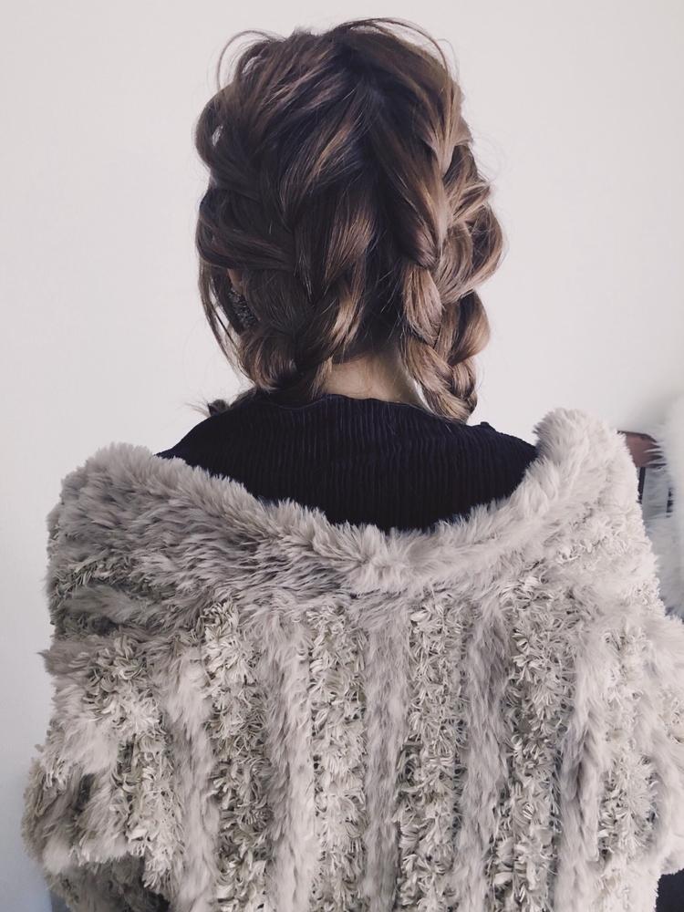《 iki AOI 表参道 》 シンプルにおっきく三つ編みアレンジヘア