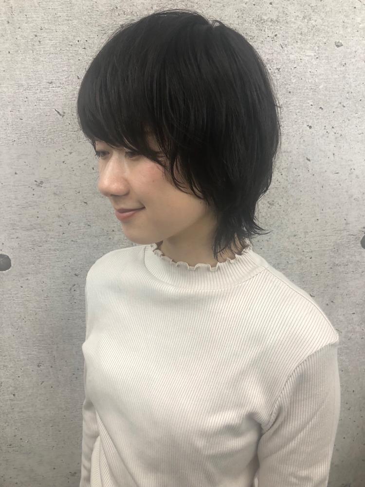 《 iki AOI 表参道 》 フェミニンなショートウルフスタイル!