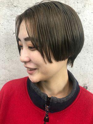 《 iki  AOI 表参道 》 ぱつんとハンサムショート
