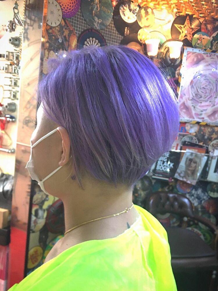 ラベンダーショートヘア