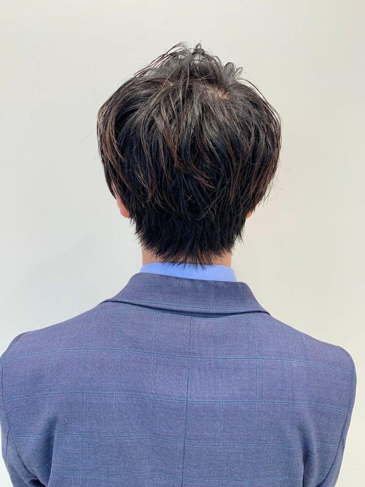 メンズ簡単スタイリング ショートレイヤー 人気◎髪型