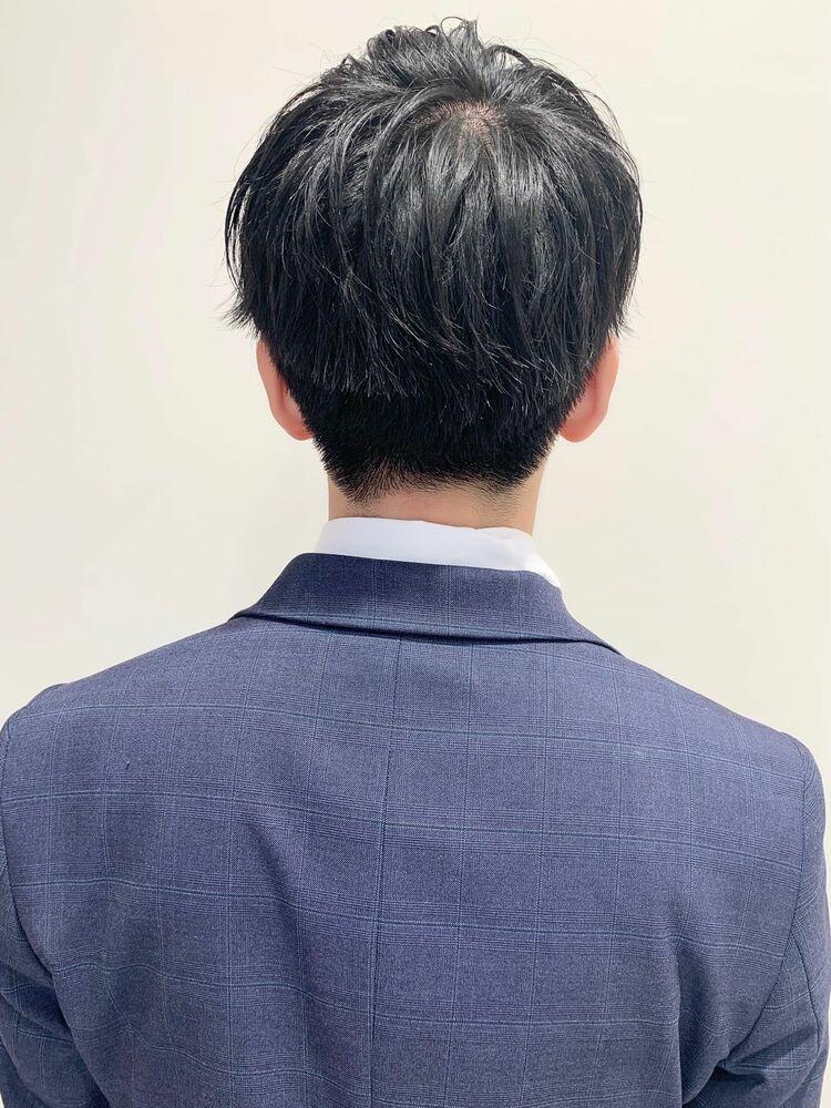 メンズ好感度大人ビジネス刈り上げショート人気スーツ◎髪型