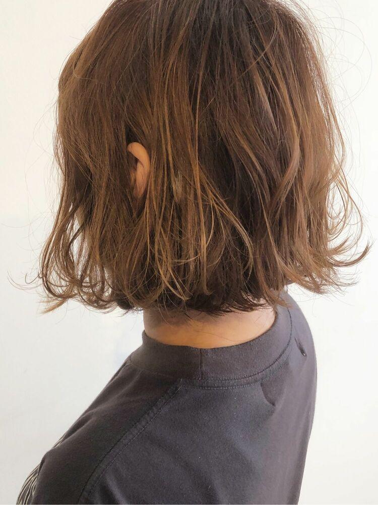ボブ×グロスベージュ Courbe 美髪カラー