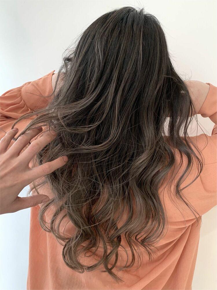 アッシュグレージュ♪Courbe 美髪カラー